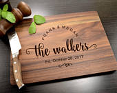 Personalized Cutting Board, Wedding Gift, Kitchen Decor, Engraved Cutting Board, Personalized Wedding Gift, Housewarming Gift, Anniversary