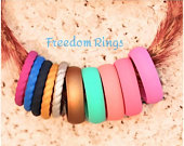 Silicone Rings Womens Stackable Wedding Bands
