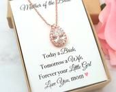 Mother of the Bride Gift, Mother in Law Gift, Mother of the Groom gift from Bride, Personalized Mom Wedding Gift Necklace, Today a Bride