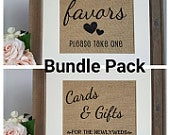 Favors Sign Gift Table Sign Wedding Reception Signs Rustic Wedding Signs Burlap Wedding Sign Wedding Favors Cards And Gifts Sign