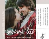 Handwritten Photo Save Our Date Postcard / Magnet / Flat Card Save the Date Magnet, Photo Wedding Magnet, Save the Date Card, Handwriting