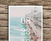 Atlantic City Save the Date Postcard // Vintage Boardwalk Save the Dates Minimalist Vintage New Jersey Beach Ocean Roaring 20s Casino