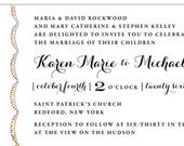 Sewn Arches Elegant Wedding Invitation Collection options from color and envelope liner