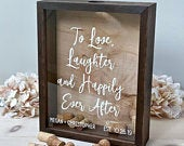 Wine Cork Holder Wood Guest Shadow Box Guest Book Alternative Wedding Cork Cap or Tab Display Case Bridal Shower Gift Wedding Gift