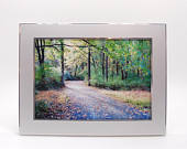 Personalized 5x7 picture frame Engraved photo frame Silver picture frame with engraving