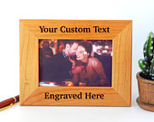 Create your own Engraved Picture Frame Personalized Wood Frames for Wedding Custom Photo Frame