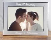 Personalized Photo Frame,Engraved Picture Frame, Personalized Picture Frame, 5x7 Frame, Picture Frame for Wedding, Anniversary Gift for Her