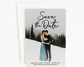 Photo Save the Date, Save The Date Cards, Printable Save the Dates, Wedding Save the Date, Save the Date Postcard, Save the Date Magnet, PDF