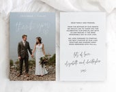 Thank You Card with Photo Insert, Printable Wedding Thank You Cards, Templett Thank You Card, Thank You Photo Card