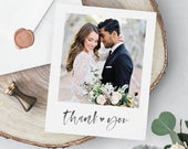 PRINTED Wedding Thank You Cards with Photo // Envelopes Included // Wedding Quality Press Cards