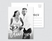 Printable OR Printed Picture Thank You Postcards Modern Script Photo Thank You Postcards for Wedding Photo Postcards with Picture 102