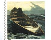 10 Vintage Nautical Stamps // Winslow Homer Painting // Nautical Sea Postage Stamps for Wedding Invitations and Cards