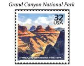 Five 32c Grand Canyon National Park Stamps .. Unused US Postage Stamps Natural Wonders Arizona White Water rafting Western Wedding