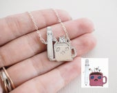 Actual Kids Drawing on Necklace Actual Handwriting Necklace Personalized Child Memorial Necklace Childrens Drawing Necklace