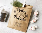 Hot chocolate bar bags Hot Cocoa Gift DecemberJanuaryFebruary bridal shower favors Winter wedding favors 25 pack