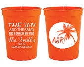 Wedding Favors, Wedding Cups, Destination Wedding Favors, Personalized Wedding Cups, Sun and Sand Drink in My Hand, Beach Party Favors, 1310