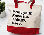 Custom Tote bags, Personalized Tote Bags, Bridesmaid Gift Bags, Personalized Business bag, 4 Words Totes Bags, Printed Tote Bags, Totes bags