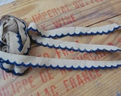 Lace Vintage Linen Blue Lace Scallop Trim .5 Inches 15mm Wide 2.5 Yard Each