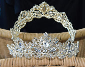 Sparkling Gold Tone Princess Tiara Special Occasion Wedding Quince Sweet Sixteen Formal Dance Photography Gift