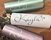 Bridesmaid Gift, Personalized Tumbler, Stainless Steel Tumbler, Will You Be My Gift, Bridesmaid Proposal, Bachelorette Party, Skinny Tumbler