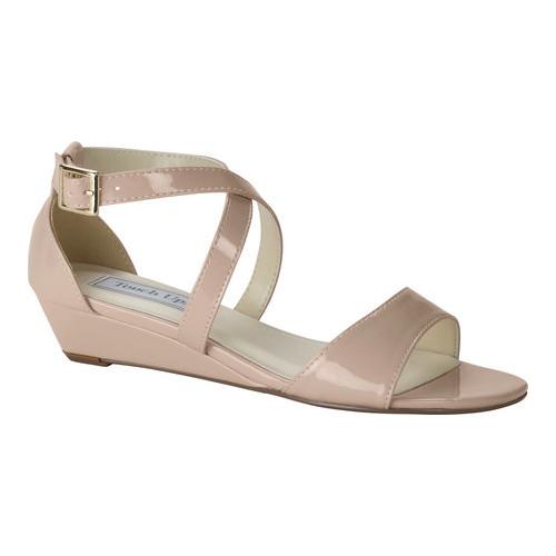 Women's Touch Ups Shyla Wedge Sandal, Size: 7.5 M, Nude Patent