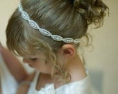 Flower girl headband, Rhinestone bridal headband, Wedding headband, Toddler headband, Flower girl hair, Flower Girl Hair Accessories, Child