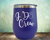 SALE I Do Crew Wine 12 oz Bridesmaids Gifts Engraved Tumbler Cup Glass Stemless Birthday Gift him, her, husband, wife, father, mother