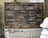 Our Father Prayer Give Us This Day Our Daily Bread Farmhouse Sign Rustic Fixer Upper Mothers Day Gift Handmade Framed