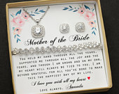 Mother of the bride set,Necklace,bracelet earrings set,Mother jewelry,Custom Mothers gift, Mother of the groom set, Mother in law,PRINCESS