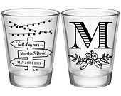 Country Wedding Shot Glasses Rustic Wedding Favors Personalized Shot Glasses Boho Wedding Decor Barn Wedding Party Gift Mason Jar Lights 2A2