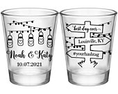 Country Wedding Shot Glasses Rustic Wedding Favors Personalized Shot Glasses Boho Wedding Decor Barn Wedding Party Gift Mason Jar Lights 1A2