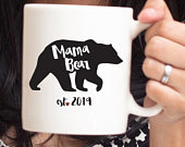 LARGE Mama Bear Mug, Mothers Day Gift, New Mom Mug, Mug for Mom, New Mom Gift, Mothers Day Gift, Mama Bear Cup, Personalized Mom Gift 59