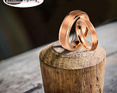 Custom engraving His Hers 8mm/6mm Tungsten Carbide Rose Gold Plated Step Edge Brushed Center Fiber Inlay Wedding Band Ring Set