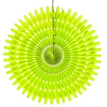 8 Lime Tissue Honeycomb Fan - Quantity: 5 - Wedding Packaging by Paper Mart