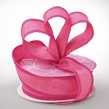 Hot Pink Side Stitch Burlap Ribbon - 1-1/2 X 10 Yards - by Paper Mart