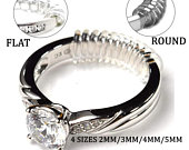 Ring Size Adjuster (4 Pack) Super Soft for Loose Rings Jewelry Guard, Ring Fitter, Sizer 2 Styles 4 Sizes 2mm/3mm/4mm/5mm