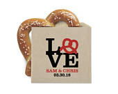 Wedding Favor Pretzel Bags Pretzel Favor Bags NYC LOVE Double Opening Grease Resistant Kraft Favor Bags