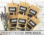 The Perfect Blend Personalized Coffe Bags, Wedding Favors For Guests, Tea, Granola Zip Bags, Coffe Bean Gift Bags 20