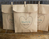 Mint To Be Wedding Favor Bags for mints 4x6 inch Kraft Paper Rustic Bags
