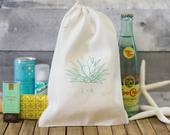 Agave Plant Welcome Bag Destination Wedding Welcome Bags Desert Wedding Aloe Plant Welcome Bag Succulent Wedding Favors Agave Bags