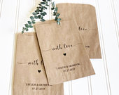 Wedding Favors Custom Printed Favor Bags Recycled Wedding Treat bag Goodie Bag Bridal Shower Favors 25 pack