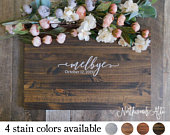 Alternative Wedding Guest Book Wedding Guest Book Wood Sign Rustic Wedding Sign Decor ARIANNA Collection