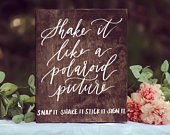 Photo Guest Book Sign, Snap It Shake It Stick It, Wood Wedding Sign, Rustic Wedding Sign, Wooden Wedding Sign, Elegant Wedding, Rustic