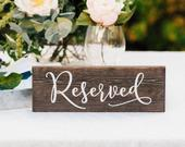 Reserved Sign Wedding Wooden Sign Rustic Table Decor Wedding Table Centerpiece