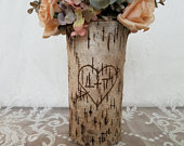 Rustic wedding Rustic wedding centerpiece Flower vase Bridal shower decorations Wooden vase Personalized wedding gift Vases for centerpieces