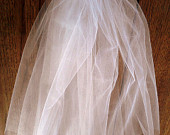 Cut Edge Wedding Veil Two Tier Bridal Veil Double Layer White Ivory Diamond White Plain Edge Veil Any Length Custom Bridal Veil