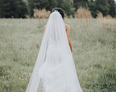 Cathedral wedding veil bridal Wedding Veil chapel wedding veil Etsy wedding veils abusymother veils