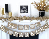 Bridal Shower Banner, Engagement Banner, Bride to Be banner, Soon to be Banner, Engagement Party Decor, Wedding Shower, Couples Shower Sign