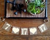 Save the Date Banner / Wedding Garland / Save the Date Props / DiY Engagement Cards / Wedding Date Banner / Photo Prop