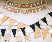 For the Rest of Our Lives / Wedding Garland Wedding Banner Decoration Reception Decoration Bridal Shower Banner / Wedding Banner / Coral